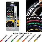 Tire Ink | Paint Pen For Car Tires | Permanent and Waterproof | Carwash Safe | 8 Colors Available (1 Pen, White)