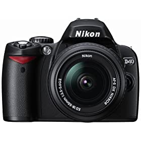 Nikon D40 6.1MP Digital SLR Camera Kit with 18-55mm f/3.5-5.6G ED II AF-S DX Zoom-Nikkor Lens