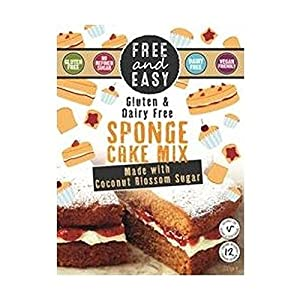 Free & Easy Sponge Cake Mix With Coconut Blossom Sugar 350g (Pack of 2)