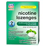 Rite Aid Stop Smoking Aid, Nicotine Lozenges, 2 mg, Mint Flavor 72 Ct.