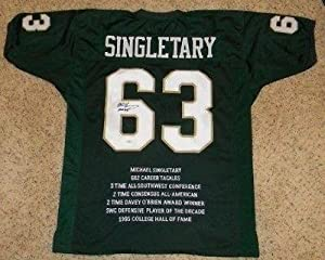 Mike Singletary Signed Jersey - Baylor #63 Throwback Stat - JSA Certified by Sports+Memorabilia