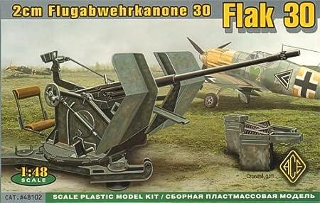 Maquette Canon anti-aérien allemand 2cm Flak 30, 2ème GM
