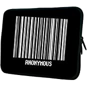 """Snoogg Anonymous Barcode 15"""" 15.5"""" 15.6"""" Inch Laptop Notebook Slipcase Sleeve Soft Case Carrying Case For Macbook..."""