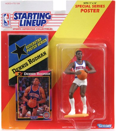 Starting Lineup (Line Up) 1992 Basketball Dennis Rodman Detroit Pistons Figure - 1