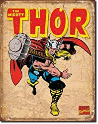 Thor Retro Metal Tin Sign 16&quot;h X 12.5&quot;w