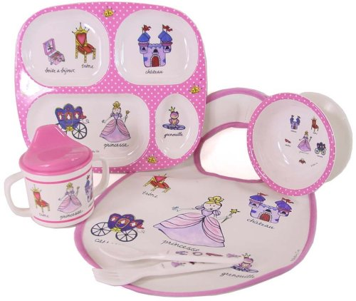 Baby Cie NEW Pink Polka Dot Princess Theme dinner set: bib, fork, spoon, sippy cup, suction bowl, divided tray, 6 pcs - Buy Baby Cie NEW Pink Polka Dot Princess Theme dinner set: bib, fork, spoon, sippy cup, suction bowl, divided tray, 6 pcs - Purchase Baby Cie NEW Pink Polka Dot Princess Theme dinner set: bib, fork, spoon, sippy cup, suction bowl, divided tray, 6 pcs (Baby Cie, Home & Garden, Categories, Kitchen & Dining, Tableware)