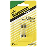 Bussmann BP/MDL-1-1/2 MDL Series Glass Tube Fuse (250 Volts, 1/4? x 1-1/4? Time-Delay)