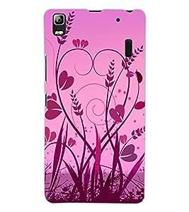 ColourCraft Love Heart Design Back Case Cover for LENOVO A7000 PLUS