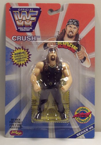 WWF / WWE Wrestling Superstars Bend-Ems Figure Series 7 Crush - 1