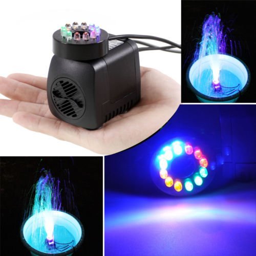 220v pompes submersibles gochange 15w 800l h 210gph Lumiere led jardin
