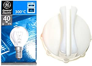 BOSCH, NEFF & SIEMENS Oven Bulb 300c 40W E14 SES, Original GE Lamp PLUS A Handy Custom Fit Glass Lens Removal Tool.. by BOSCH / GENERAL ELECTRIC