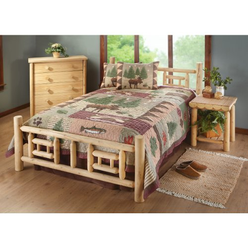 Queen Deluxe Cedar Log Bed