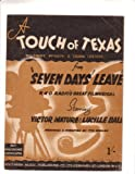 UK Sheet Music A Touch of Texas