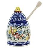 Polish Pottery Butterfly Honey Pot