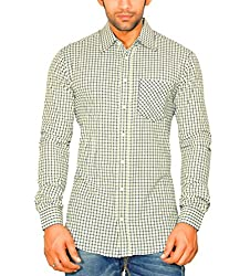 Moksh Men's Checkered Casual Shirt ACE08102013-A4 (Large)