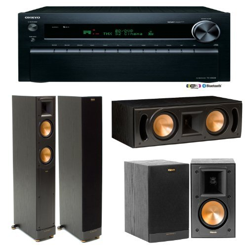 Onkyo Tx-Nr828 7.2 Channel Wireless Home Theater Receiver Plus A Klipsch Reference 5.0 Home Theater Speaker Package (Rf-52Ii, Rb-41Ii & Rc-52Ii)