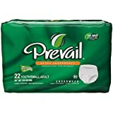 Prevail Extra Absorbency Underwear, Youth/Small Adult, 22 Count (Pack of 4)