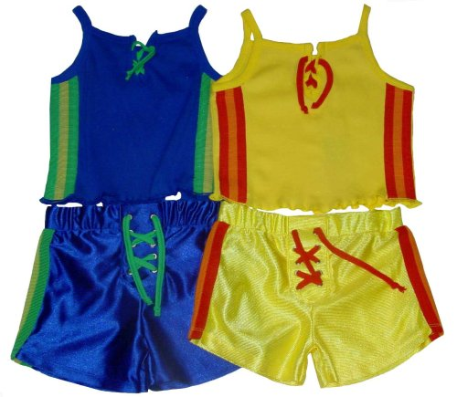 Girls' Two-Piece Short Set with Decorative Racing Stripes and Lace Front Tank Top - Buy Girls' Two-Piece Short Set with Decorative Racing Stripes and Lace Front Tank Top - Purchase Girls' Two-Piece Short Set with Decorative Racing Stripes and Lace Front Tank Top (Camp Beverly Hills, Camp Beverly Hills Pants, Camp Beverly Hills Girls Pants, Apparel, Departments, Kids & Baby, Girls, Pants, Girls Pants, Casual, Casual Pants, Girls Casual Pants)
