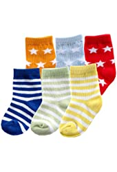 Luvable Friends 6-Pack Bright Colored Socks