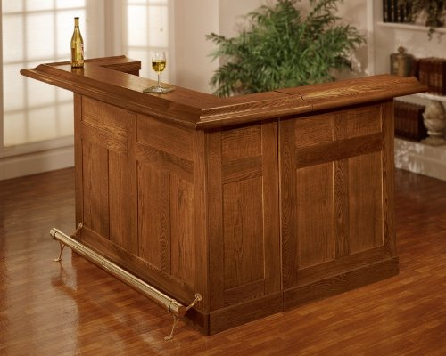 Hillsdale Furniture Classic Full Bar in Oak