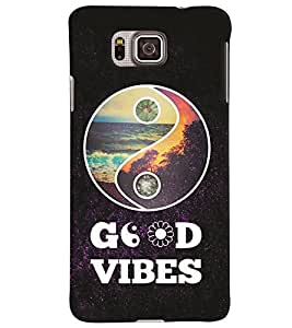 Samsung Galaxy ALPHA MULTICOLOR PRINTED BACK COVER FROM GADGET LOOKS