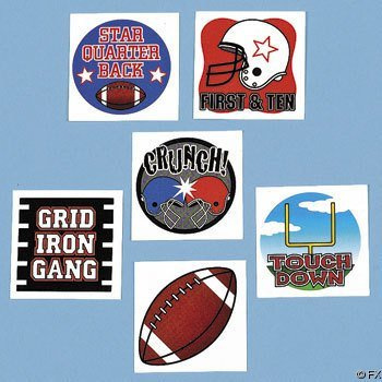 Temporary Football Tattoos (6 dz) - 1