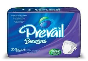 Prevail Breezers Adult Briefs, Regular, 20-Count (Pack of 4)