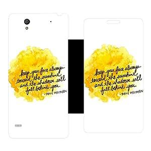 Skintice Designer Flip Cover with Vinyl wrap-around for Sony Xperia C4, Design - Sunshine
