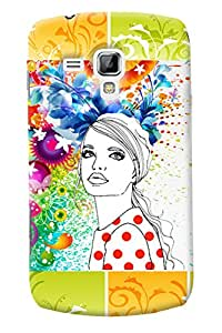 Fuson Pattern Girl Back Case Cover for SAMSUNG GALAXY S DUOS 2 S7582 - D3643