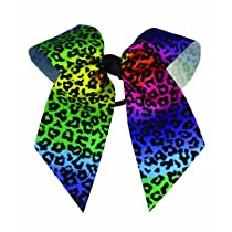 Animal Print Hair Bows Rainbow/Cheetah