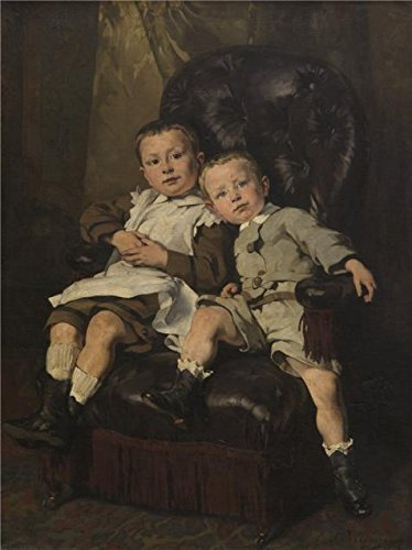 High Quality Polyster Canvas ,the Imitations Art DecorativeCanvas Prints Of Oil Painting 'Paul And Edmond Roger, Step Children Of The Painter, 1872 By Alfred Cluysenaar', 18x24 Inch / 46x61 Cm Is Best For Kitchen Artwork And Home Decoration And Gifts (Sewing Machine Accesory Bible compare prices)