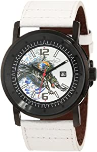 Ed Hardy Men's KM-PT Kombat White Watch