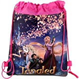 Disney Tangled Drawstring Swimming PE kids bag character collectors movie christmas xmas stocking filler - Various Styles (Sky Lanterns)