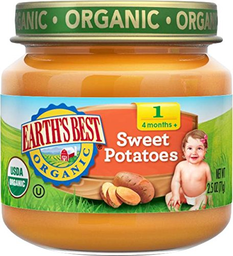Earth's Best Organic Stage 1, Sweet Potatoes, 2.5 Ounce Jar (Pack of 12) (Baby Food Sweet Potato compare prices)
