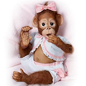 Cindy Sales' Poseable Baby Monkey Doll: Cute As A Button So Truly Real