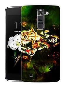 "Shiva Calm - Hindu God Printed Designer Mobile Back Cover For ""LG K7"" By Humor Gang (3D, Matte Finish, Premium Quality, Protective Snap On Slim Hard Phone Case, Multi Color)"