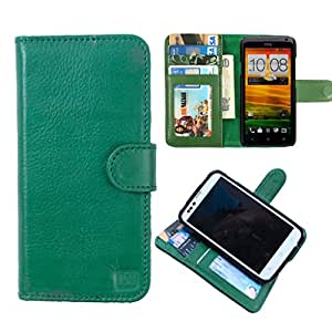 DooDa Genuine Leather Wallet Flip Case Cover With Card & ID Slots & Magnetic Closure For HTC Desire 510