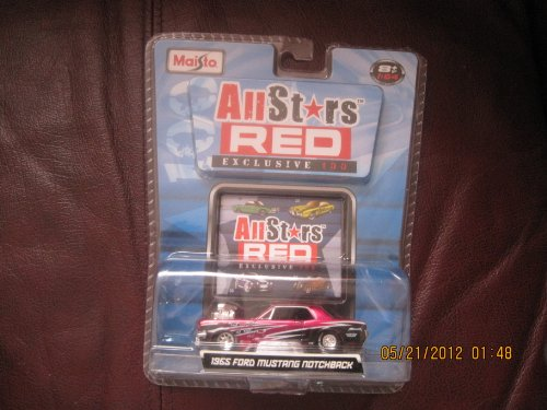 Maisto All Stars Red Exclusive 100 1965 Ford Mustang Notchback - 1