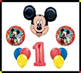 Disney Mickey Mouse Clubhouse '1' Happy Birthday Balloon Set Party Decoration