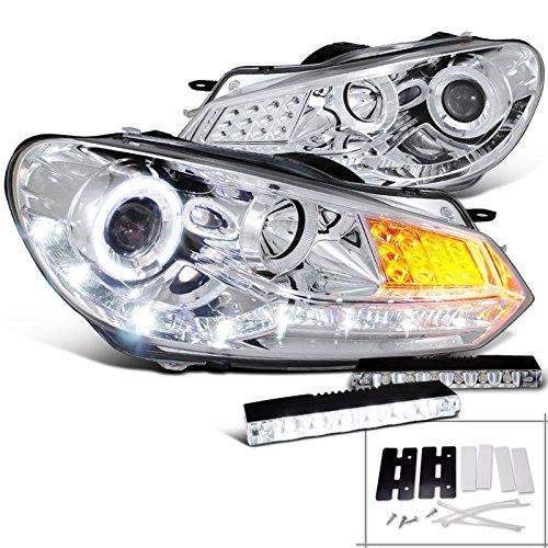 For 06-07 Subaru Impreza Black Projector R8 Headlights+6-LED Fog Lamps
