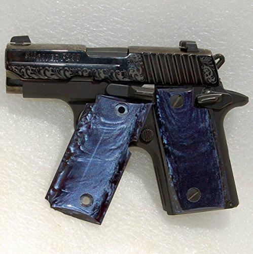 Sig Sauer Gun / Pistol Grips, Sig P238 Grips, Kirinite, Deep Blue Pearl