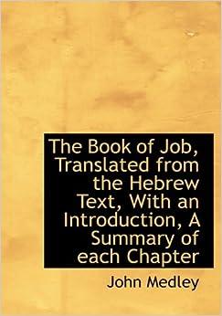 Book of job summary bible