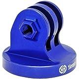 Smatree® Aluminum Tripod Mount Adapter for Gopro Hero4 Hero3+ Hero 3 2 1 HD Cameras -Threaded End (Blue)