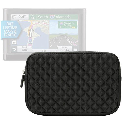 6 -7in GPS Case - Evecase GPS Navigation Neoprene Pouch Sleeve Case for Garmin nüvi, Tomtom, Magellan and more - 6 - 7 inch Black