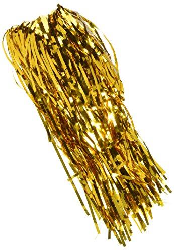Forum Novelties 76011 SUNBEAUTY Metallic Tinsel Foil Fringe Curtains (Gold Streamer Backdrop compare prices)