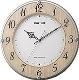 リズム時計 RHYTHM 電波 掛け時計 ライブリーナチュレ 木目仕上げ 8MY506SR23