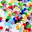 100 pieces 6mm Crystal Glass Bicone Beads - Mixed - A2619