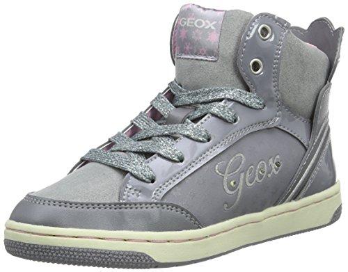 Geox JR Creamy C, Scarpe da Ginnastica Alte Bambina, Grigio (GREYC1006), 32 EU