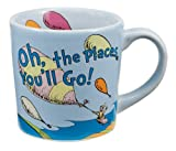 Vandor 17061 Dr.Seuss Ceramic Mug Oh The Places, Blue, 12-Ounce