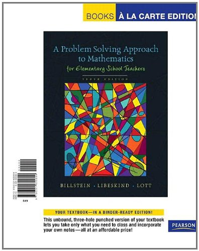 Problem Solving Approach to Mathematics for Elementary...